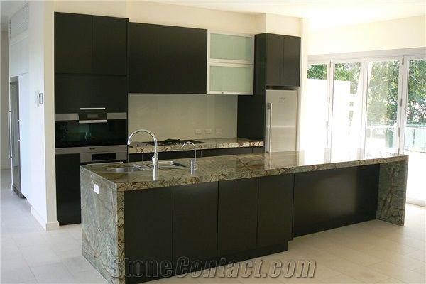 Rain Forest Green Marble Kitchen Bench Top