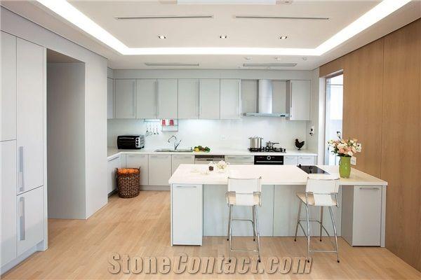 Samsung Radianz Quartz - Aleutian White Kitchen Bench Top ...