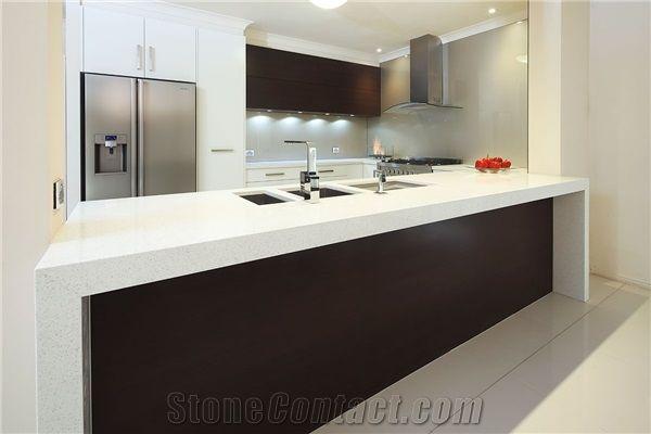 Trendstone Quartz- Stellar White Kitchen Bench Tops from ...