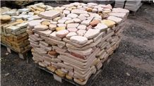 Wloch Sandstone Polygonal Tumbled Paving Tiles