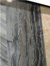 Sea Wave Black Marble Polished Slabs, Tiles