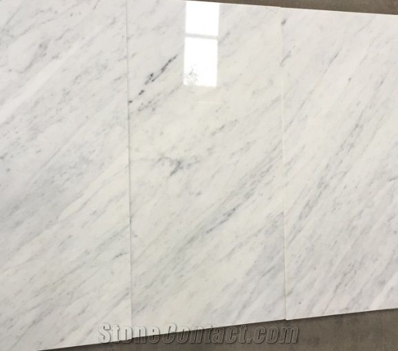 Italy Carrara White Marble Tiles Slabs