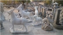 Natural Granite Garden Statues,Animal Sculptures,Carved Stone