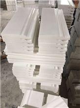 White Marble Skirting,Border,Wall Molding,Bullnose Moldings,Liners