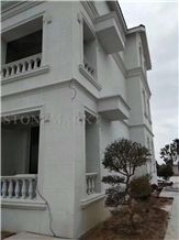 China Pearl White Granite Tiles Panel Wall Cladding for Building