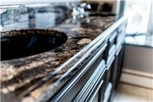 Black Space Granite Bathroom Vanity Tops