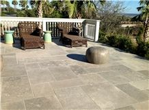 French Limestone Tiles Dark and Light Grey Colors