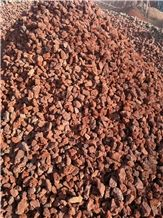 Red Lava Stone, Vocanic Stone Gravels for Garden and Water Treatment