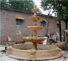 Villa Garden Fountain Granite Stone Waterfall Water Feature Design