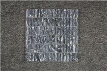 Italy Bardiglio Light, Dark,Giallo Nuvolato Polished Marble Mosaics