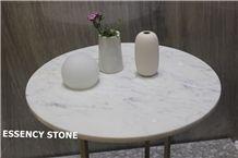 Carrara White Round Table Top