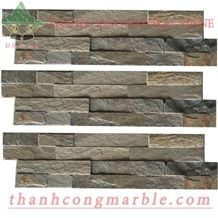 Rusty Brown Stone Cultured Panels 03