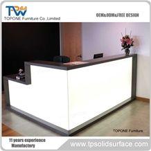 Manmade Stone Reception Desks Cash Counter Table Front Desk