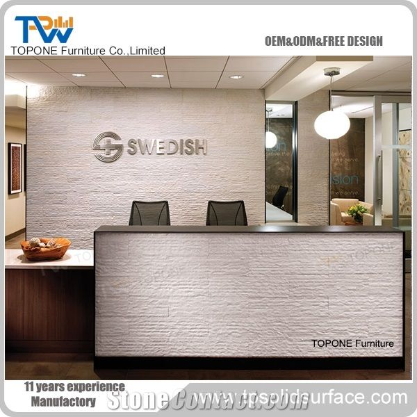 Salon Reception Nail Store Manmade Stone Reception Desk from ...