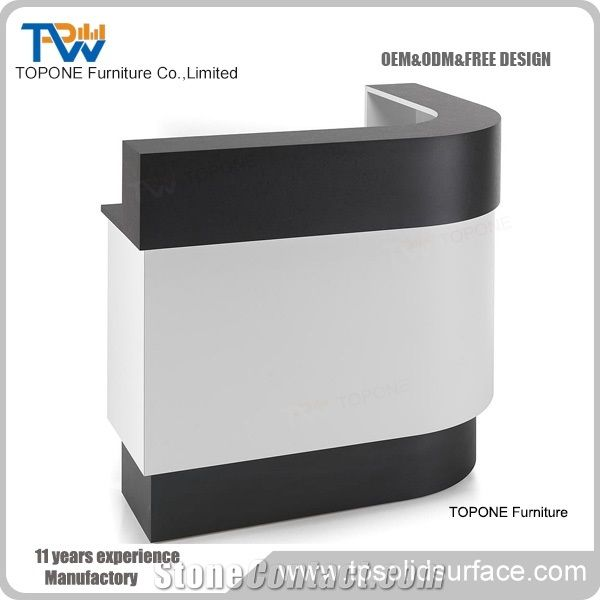 Surface Simple Design Used Reception Desk Salon Counter