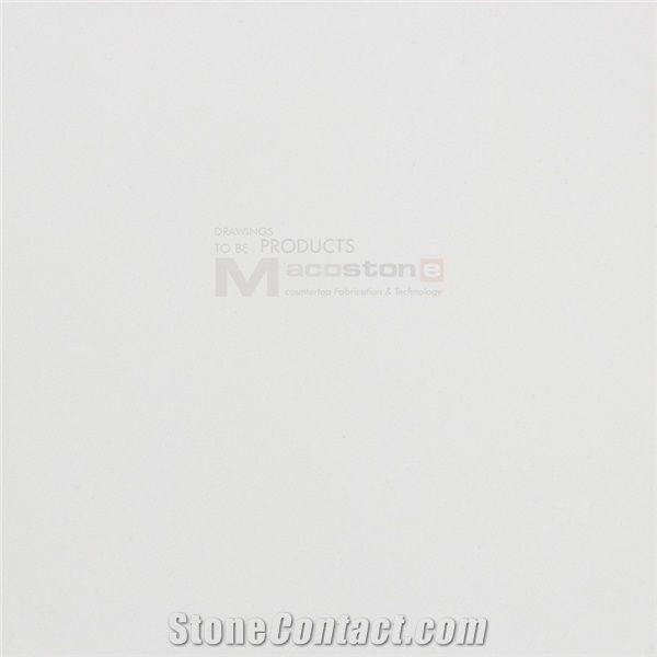 Artificial Pure White Colour Quartz Stone Slab
