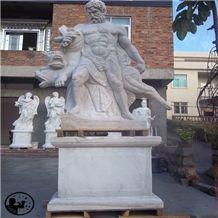 White Marble Human Animal Sculptures,Western Landscape Garden Statues