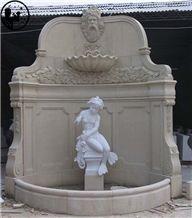 White Marble Mermaid Handcarved Sculpture,Angel Garden Street Statues