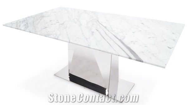 Super Bianco Carrara Marble Modern Style Table Tops,White Marble Desk  NO45
