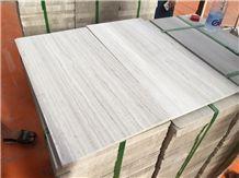China Guizhou White Wooden Vein Serpeggiante Marble Tile,Machine Cutting Panel Slab,Pattern Floor Gofar