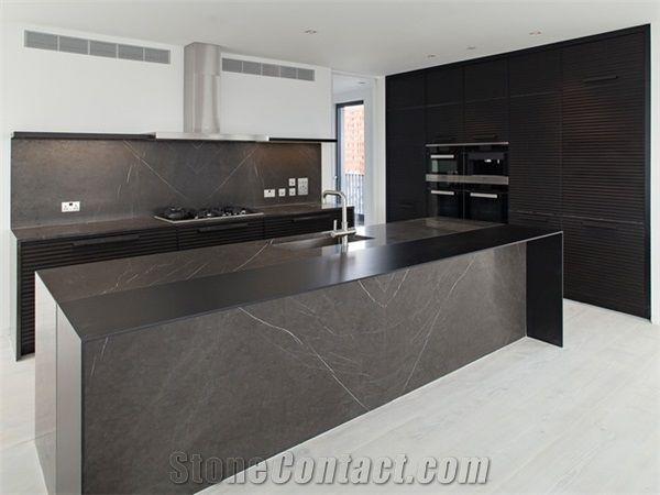 Modern Pietra Grey Marble Kitchen Islands Countertops Xiamen Gofar Stone Co Limited