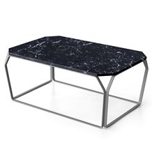 Nero Marquina Marble Modern Style Rectangle Table Tops,Black Marble Desk, Tabltops Furniture