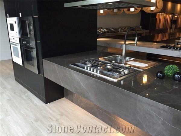 Bon Pietra Grey Marble Commercial Kitchen Countertops,Islands Worktop