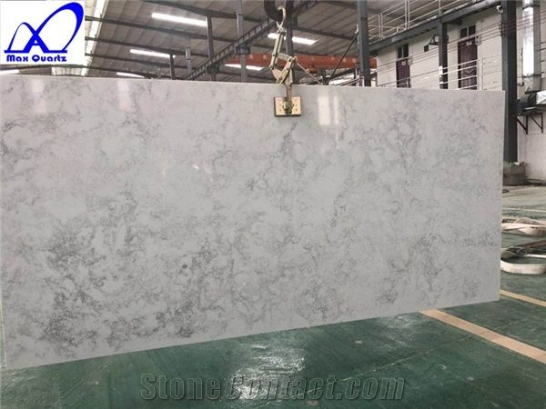 Carrara White Quartz Stone Slab