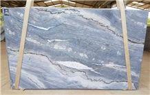 Quartzite Azzurro Slabs, Brazil Blue Quartzite