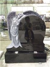 Shanxi Black Angel Wings Tombstones