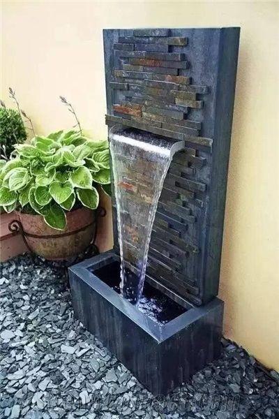 Black Granite Garden Fountains Exterior Fountains