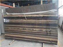 China Royal Purple Sandalwood Black Wood Vein Marble Slab 180usd/M2