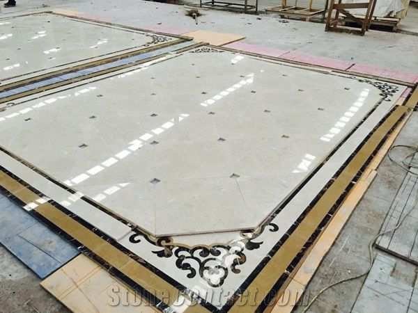 Waterjet Marble Flower Marble Floor Design Home Decoration From China - StoneContact.com