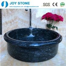 Black Factory Wash Basin Marble on Bathroom Top