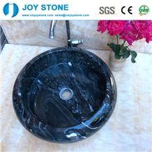 Black Marble Wash Basin for Sale on Bathroom