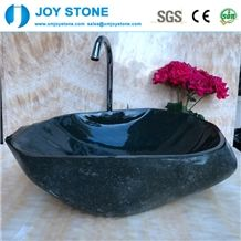 Black River Stone Marble Wash Basin for Bathroom
