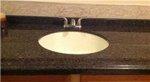 Cafe Imperial Brown Granite Bath Countertop