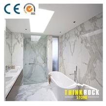 Calacatta White Marble Small Bathroom Design