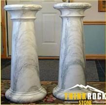 Carrara White Bianco Marble Column