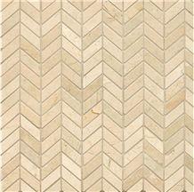 Cream Marfil Marble Mosaics for Flooring Tiles