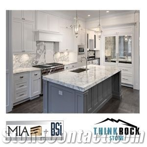 Italian Carrara White Marble Kitchen Countertops On Sale From China