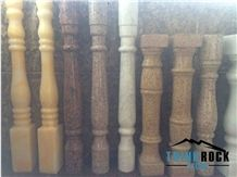 Multicolor Solid Marble Onyx Granite Balustrade & Railings