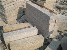 Natural G682 Yellow Rusty Granite Palisade Fence Paving Stone Factory