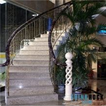 Natural Grey Granite Stairs Tread