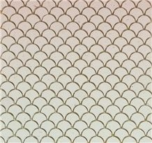 Yellow Limestone Mosaic for Bathroom Kitchen Backsplash