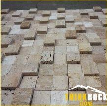 Yellow Natural Travertine Mosaic Tile