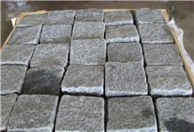 Grey Granite Cube Stone,Grey Stone Pavement,Cobblestone Paving G654