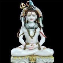 Makarana White Marble Shiv Statue