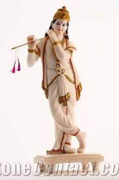 White Marble Krishna Statue From India Stonecontact Com