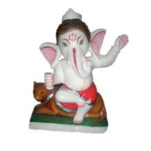 White Marble Lord Ganesha Statues